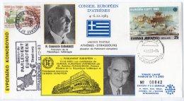 1983 - STRASBOURG -  Parlement Européen - Conseil Européen D'Athène - Mr KARAMANLIS Et Mr PAPANDREOU - European Community