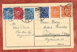 Karte, MiF Schnitter U.a., Breslau Nach Tuttlingen 1923 (49148) - Deutschland