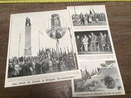 AN 20/30 AUX HEROS DE LONCIN FORT DE LONCIN - Old Paper