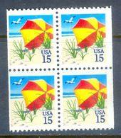 E53- USA Beach Umbrella Block Of Four. - United States