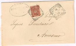 X1454 2 Centesimi Stemmi - 1901 Viaggiata Da Frosinone A Amaseno (Frosinone) - 1900-44 Vittorio Emanuele III