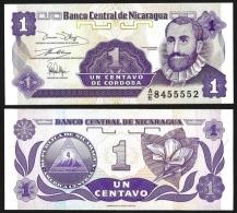 NICARAGUA 1 CENTAVO ND 1991 P 167 UNC - Nicaragua