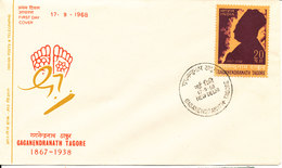 India FDC 17-9-1968 Gaganendranath Tagore With Cachet - FDC