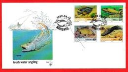 NAMIBIA, 1991, Mint FDC 1.10, Fishes, Stampnrs. MI 719-722 - Namibia (1990- ...)