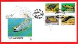 NAMIBIA, 1991, Mint FDC 1.10, Fishes, Stampnrs. MI 719-722 - Namibië (1990- ...)