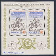 Poland Polska Polen 1986 B 101 =Mi 3051 ** Postal Messenger + Airliner - World Post Day / Postreiter - Weltposttag - Post