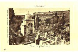 CPA N°21134 - LOT DE 6 CARTES DE JERUSALEM - JARDIN DE GETHSEMANI - Palästina