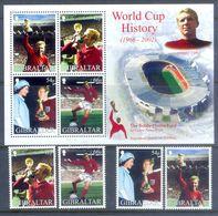 E42- Gibraltar 2002 World Cup History Football Soccer.The Bobby Moore Fund. - Gibraltar
