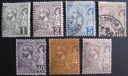 LOT FD/1505 - 1891 - MONACO - ALBERT 1er - N°11 à 14 + 17 à 19 NEUFS**/*/NSG (N°19 : 1 Dent Manquante) - Cote : 87,10 € - Neufs