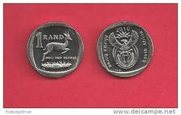 SOUTH AFRICA  2010 Nicely Used 1 Rand Coin C1370 - Sud Africa