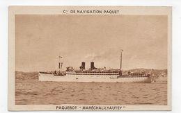PAQUEBOT MARECHAL LYAUTEY - Cie DE NAVIGATION PAQUET - CPA NON VOYAGEE - 75 - Paquebots