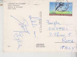Storia Postale Francobollo Commemorativo Senegal Nice Stamp Africa Rustic Scene  G/T - Senegal