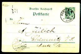 ALLEMAGNE - Ganzsache (Entier Postal) Michel P32 I (BERLIN Nach CHEMNITZ) - Postwaardestukken