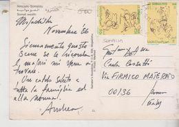 Storia Postale Francobollo Commemorativo Nice Stamp Soomaaliyeed  Africa  G/T - Cartoline