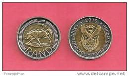 SOUTH AFRICA  2010 Nicely Used 5 Rand Coin Nr. 166C, C1331 - South Africa