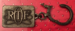 Porte Clef De Marque ORTF En Métal Ancien - Other Collections