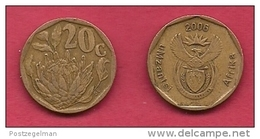 SOUTH AFRICA, 2006, 3 Off Nicely Used Coins 20 Cent C2102 - South Africa