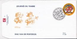 3023  BD P1391 FDC   Rare Stam Et Pilou StamPilou 6-10-2001 3630 Eisden-Maasmechelen €9 - 2001-10
