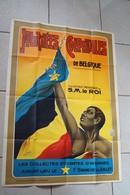 RARE Affiche Journées Coloniales De Belgique,Cocu Et Mairesse,dessin Const.Poffé,X.L.1926,état Neuf ! - Affiches