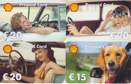 4  Gift Cards  - - -  Shell Germany - - - 3 Sexy Girls, 1 Dog - Gift Cards