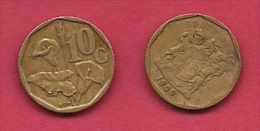 SOUTH AFRICA, 1999, 3 Off Nicely Used Coins 10 Cent C2113 - South Africa