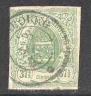 Luxembourg  Armoiries 37½ Cent  No 10 Oblitéré - 1859-1880 Armoiries