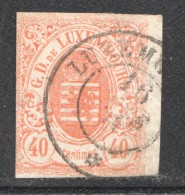 Luxembourg  Armoiries 40 Cent  No 11 Oblitéré - 1859-1880 Coat Of Arms