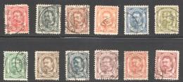 Luxembourg Guillaume  Nos 74-85  Série Complète Oblitérés 5fr Signé Stolow  Et Ritchler - 1906 Guillaume IV