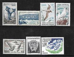 C 93 TAAF Lot De 7 Timbres N++ - Terres Australes Et Antarctiques Françaises (TAAF)