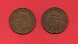 SOUTH AFRICA, 1940,  Circulated Coin, 1 Penny, George VI, Km 25, C1422 - South Africa