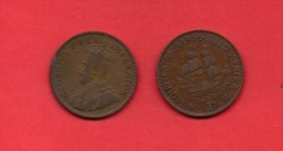 SOUTH AFRICA, 1935,  Circulated Coin, 1 Penny, George V, Km 14.3, C1419 - South Africa