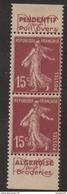 Paire Verticale Publicitaire Du Carnet N° 189 C1 - Cote Dallay 50€ - Publicités