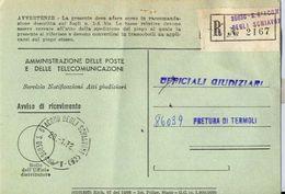 1972 - Amministrazione Della Poste E Delle Telecomunicazioni - Avviso Di Ricevimento Raccomandata 2167 - San Giacomo Deg - 6. 1946-.. Repubblica