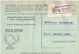 1972 - Amministrazione Della Poste E Delle Telecomunicazioni - Avviso Di Ricevimento Raccomandata 2169 - San Giacomo Deg - 1946-.. République