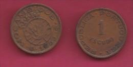 MOZAMBIQUE, 1953, 1 Escudo VF, KM 82, C2838 - Mozambique