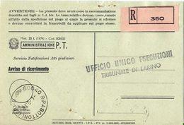 1976 - Amministrazione Della Poste E Delle Telecomunicazioni - Avviso Di Ricevimento Raccomandata - Ripalimosani - Campo - 6. 1946-.. Repubblica