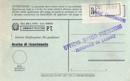 1978 - Amministrazione Della Poste E Delle Telecomunicazioni - Avviso Di Ricevimento Raccomandata - Campomarino - Campob - 6. 1946-.. Repubblica
