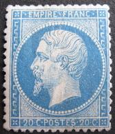 LOT FD/1525 - NAPOLEON III N°22 NEUF Gomme Altérée - 1862 Napoleon III