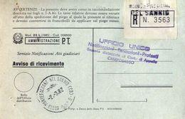 1982 - Amministrazione Della Poste E Delle Telecomunicazioni - Avviso Di Ricevimento Raccomandata - Montefalcone Nel San - 1946-.. République