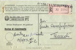 1983 - Amministrazione Della Poste E Delle Telecomunicazioni - Avviso Di Ricevimento Raccomandata - Castelbottaccio - Ca - 6. 1946-.. Repubblica