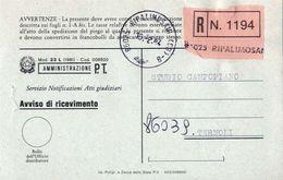1984 - Amministrazione Della Poste E Delle Telecomunicazioni - Avviso Di Ricevimento Raccomandata - Ripalimosani - Campo - 1946-.. République