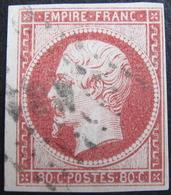 LOT FD/1530 - NAPOLEON III N°17A Carmin Clair - Cote : 70,00 € - 1853-1860 Napoléon III