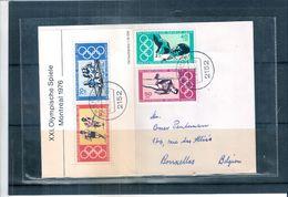 JO Montréal 1976 - Série Complète Sur Lettre D'Allemagne Vers La Belgique (à Voir) - Ete 1976: Montréal