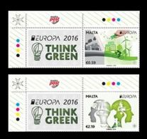 Malta 2016 Mih. 1927/28 Europa-Cept. Think Green (with Labels) MNH ** - Malta