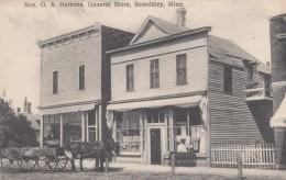 Beardsley Minnesota, Mrs. GA Herbers General Store, Millinery, Horse-drawn Wagon, Street Scene, C1900s Vintage Postcard - Stati Uniti