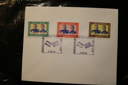 Paraguay C310-312 Visit Of Prince Philip Duke Of Edinburgh Pres Stroessner Day Of Issue Cancel 1962 A04s - Royalties, Royals