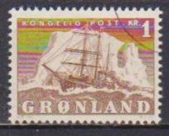 GROENLANDIA  1950 RE FEDERICO IX E VELIERO UNIF. 25 USATO VF - Groenlandia