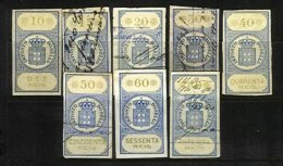 AZORES, Stamp Duty, PB 58/65, */o M/U, F/VF, Cat. € 17 - Revenue Stamps
