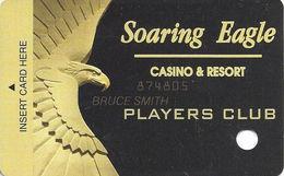 Soaring Eagle Casino - Mt. Pleasant, MI USA - 3rd Issue Slot Card - Eagle Same Color As Insert Strip - Casino Cards