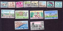 Kenya, Scott #1-14, Mint Hinged, Scenes Of Kenya, Issued 1963 - Kenya (1963-...)